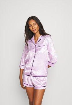 Wolf & Whistle - TRACY SLEEP SHIRT SHORT SLEEVED SHORTS  - Pyjama - lilac