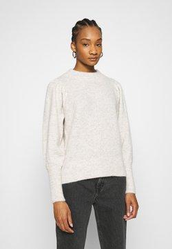 Selected Femme - SLFLINNA NEW O NECK - Trui - sandshell