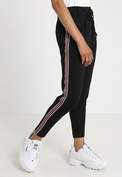 ONLY - ONLPOPTRASH EASY SPORT PANT - Jogginghose - black/red/white