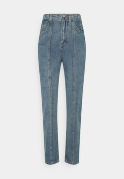 Missguided Tall - SEAM PANEL DETAIL MOM - Jeans a sigaretta - blue