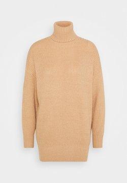 Missguided Petite - PREMIUM BOYFRIEND ROLL NECK DRESS - Robe pull - camel