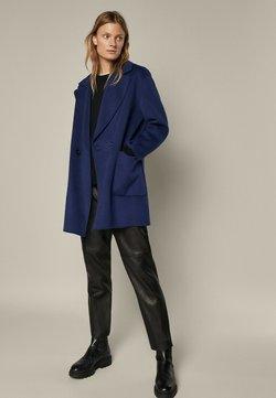 Massimo Dutti - Klasyczny płaszcz - blue