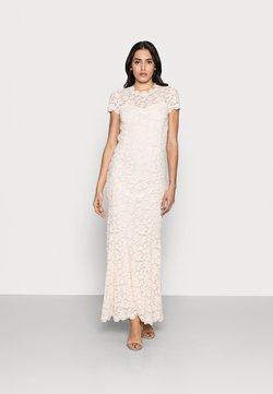 Rosemunde - LONG LACE DRESS OPEN BACK SHORT SLEEVE - Ballkleid - soft ivory