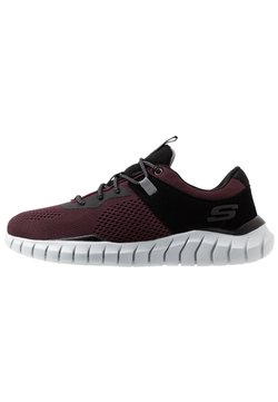 Skechers Sport - OVERHAUL - Sneaker low - burgundy/black