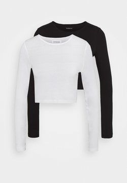 Even&Odd - 2 PACK - Pitkähihainen paita - white/black