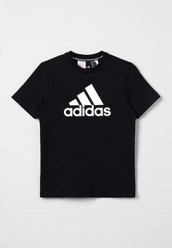 adidas Performance - UNISEX - T-shirt med print - black/white