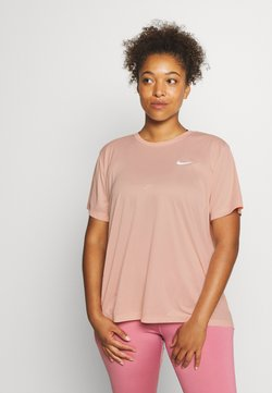Nike Performance - MILER  - Camiseta estampada - washed coral/reflective silver
