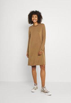 Object - OBJANNIE HIGHNECK DRESS - Jerseyjurk - sepia