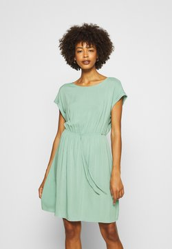 TOM TAILOR DENIM - OVERCUT SHOULDER DRESS - Sukienka letnia - dust green