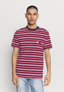 Tommy Jeans - STRIPE POCKET TEE - T-Shirt print - twilight navy