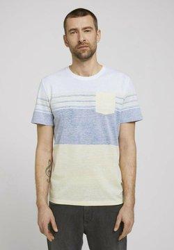 TOM TAILOR - T-Shirt print - pale straw yellow
