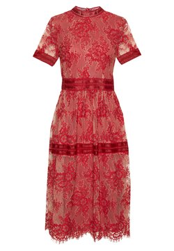 Vila - VIDIXIE MIDI DRESS - Cocktailkleid/festliches Kleid - flame scarlet