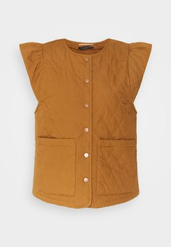 Selected Femme - SLFBERTA QUILTED VEST  - Smanicato - toffee