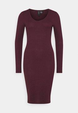 Vero Moda - VMPOLLY NECK DRESS  - Shift dress - fig