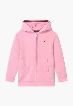 Tommy Hilfiger - HERITAGE LOGO ZIP THROUGH - veste en sweat zippée - pink