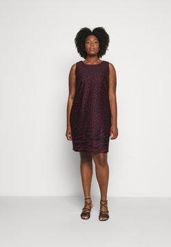 CAPSULE by Simply Be - PONTE SHIFT DRESS - Freizeitkleid - black