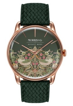 August Berg - UHR MORRIS & CO ROSE GOLD GREEN PERLON 38MM - Montre - fennel