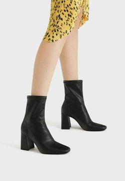 Bershka - High Heel Stiefelette - black