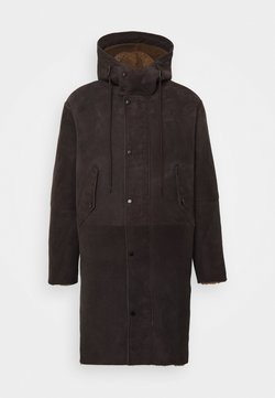 CLOSED - SHEARLING PARKA - Leather jacket - dark lava