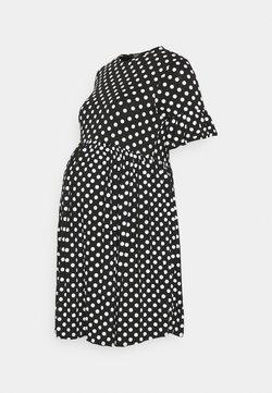 New Look Maternity - SPOT PEPLUM DRESS - Vestido ligero - black