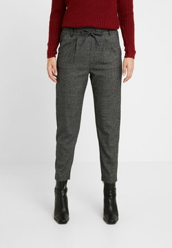 ONLY Petite - ONLPOPTRASH SOFT CHECK PANT - Spodnie materiałowe - black/cloud dancer