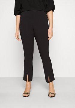 Vero Moda Curve - VMVICTORIA SLIT PANT CURVE - Pantalon classique - black