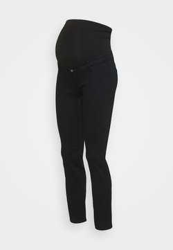 Dorothy Perkins Maternity - OVERBUMP ELLIS  - Slim fit -farkut - black