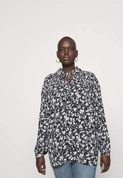 Lauren Ralph Lauren Woman - DUONG LONG SLEEVE - Bluse - black/white