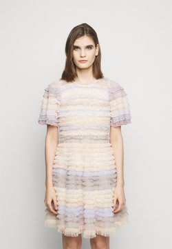 Needle & Thread - LUELLA RUFFLE MINI DRESS - Cocktail dress / Party dress - porcelain