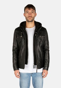 LEATHER HYPE - Giacca di pelle - black