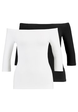 Even&Odd - 2 PACK - Langarmshirt - white/black