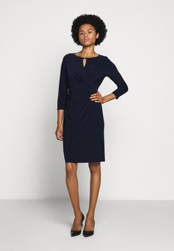 Lauren Ralph Lauren - MID WEIGHT DRESS TRIM - Etuikleid - lighthouse navy
