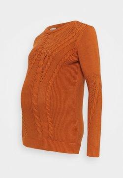 Pieces Maternity - PCMBELMA  - Jersey de punto - sunburn