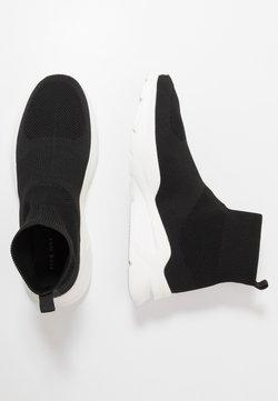 Pier One - Sneakers hoog - black/white