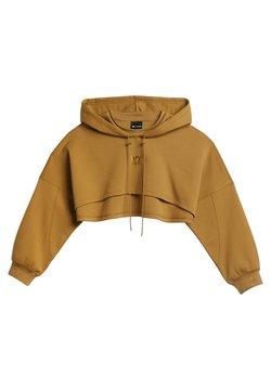adidas Originals - Ivy Park Hooded Shrug - T-shirt print - mesa