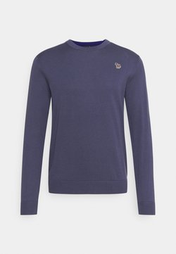 PS Paul Smith - MENS CREW NECK ZEBRA - Strickpullover - grey/dark blue