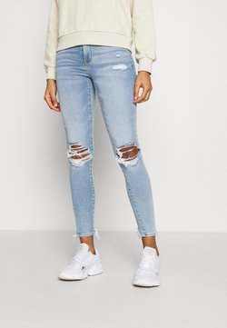 American Eagle - JEGGING - Jean slim - busted bright