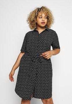 ONLY Carmakoma - CARLILA DRESS - Sukienka koszulowa - black/white