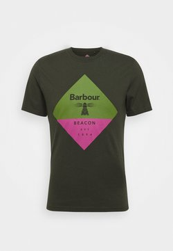 Barbour Beacon - DIAMOND TEE - T-shirt print - forest