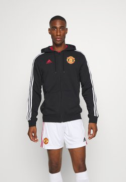adidas Performance - MANCHESTER UNITED FOOTBALL HOODED - Artykuły klubowe - black