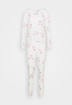 Boux Avenue - XMAS FLAMINGO PRINT TWOSIE SET - Pyjama - cream