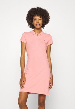 Tommy Hilfiger - SLIM POLO DRESS - Freizeitkleid - watermelon pink