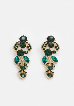 Pieces - PCMAGGY EARRINGS - Earrings - gold-coloured/green