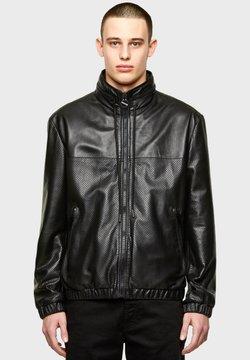 Diesel - Leren jas - black