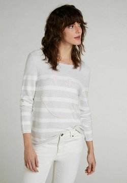 Oui - Strickpullover - white offwhite