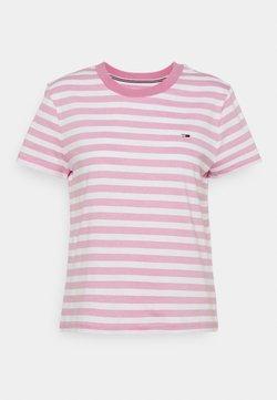 Tommy Jeans - CLASSICS STRIPE TEE - T-Shirt print - pink daisy