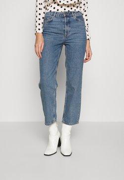 Selected Femme - SLFKATE RAIL - Straight leg jeans - medium blue denim