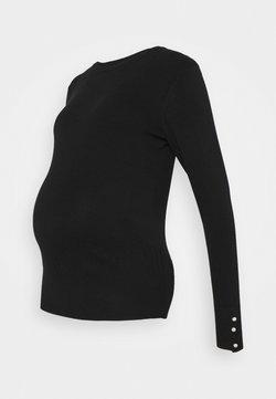 Dorothy Perkins Maternity - PEARL CUFF CREW NECK JUMPER - Jersey de punto - black