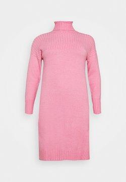 Simply Be - YOKE ROLL NECK SWEATER DRESS - Trui - pink ice