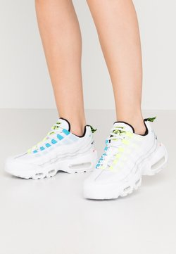 Nike Sportswear - AIR MAX 95 - Sneakersy niskie - white/volt/blue fury/black